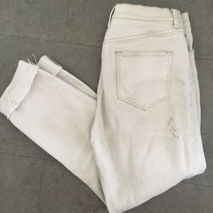 distressed off white jeans
